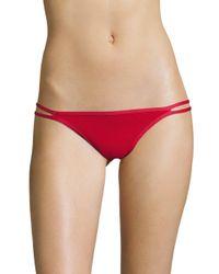 Duskii Red Oasis Slim Regular Bikini Bottom
