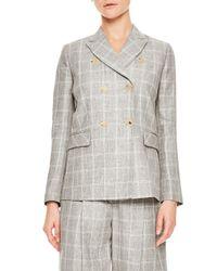 Sandro - Gray Iveline Wool Blazer - Lyst