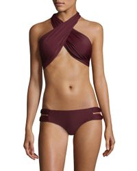 6 Shore Road By Pooja Multicolor Bocas Ruched Bikini Top