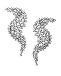 Adriana Orsini - Metallic Leia Wave Drop Swarovski Crystal Earrings - Lyst