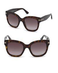 Tom Ford - Brown 55mm Beatrix Square Sunglasses - Lyst