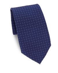 Ralph Lauren Purple Label - Blue Printed Silk Tie for Men - Lyst