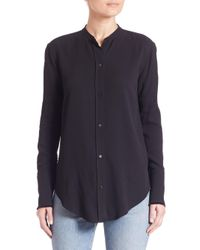 Helmut Lang Black Long Sleeve Back-knotted Blouse