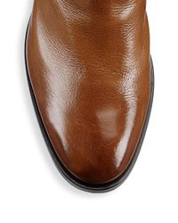 Givenchy - Brown Leather Elasticized Boots for Men - Lyst