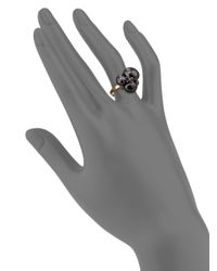 Pomellato - Black Blue Sapphires, Ceramic & 18k Rose Gold Ring - Lyst