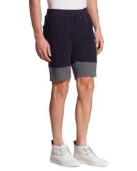Saks Fifth Avenue - Blue Colorblock Drawstring Shorts for Men - Lyst