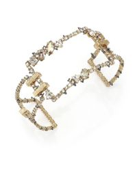 Alexis Bittar | Metallic Crystal-encrusted Oversized Link Cuff Bracelet | Lyst
