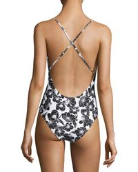 6 Shore Road By Pooja Black Cliff Top One-piece Swimsuit