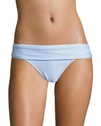 Heidi Klein - Blue Fold-over Bikini Bottoms - Lyst