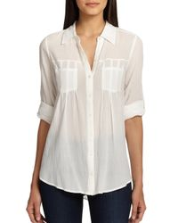 Joie | Blue Pinot Crepe Shirt | Lyst