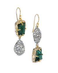 Alexis Bittar - Multicolor Elements Green Amethyst, Pyrite Doublet & Crystal Drop Earrings - Lyst