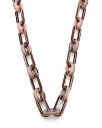 Lafayette 148 New York   Metallic Oval Link Chain Necklace   Lyst