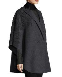 Elie Tahari - Gray Elsy Wool Coat - Lyst