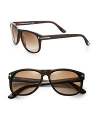 Tom Ford Brown Olivier Acetate Sunglasses for men