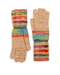 Missoni Multicolor Striped Wool-blend Gloves