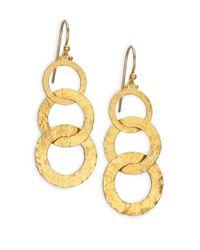 Gurhan - Metallic Hoopla 24k Yellow Gold Infinity Triple-drop Earrings - Lyst