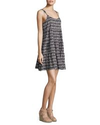 Vineyard Vines Black Kaleidoscope Geometric-print Beach Dress