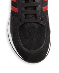 Versace Black Lace-up Low Top Sneakers for men