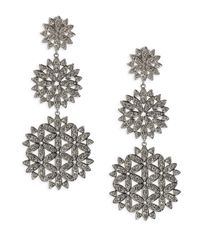 Adriana Orsini - Metallic Anise Long Crystal Drop Earrings - Lyst