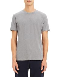 Theory Gray Cosmos Essential Cotton T-shirt for men