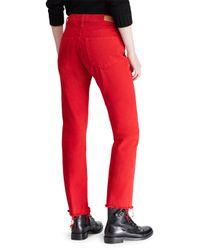 Polo Ralph Lauren - Red Chrystie Crop Jeans - Lyst