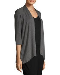 Eileen Fisher Gray Oversized Open Front Cardigan