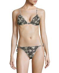 Zimmermann | Multicolor Divinity Ruffled Two-piece Triangle Bikini | Lyst
