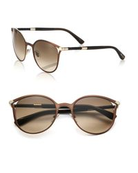 Jimmy Choo - Brown Neiza 54mm Round Sunglasses - Lyst