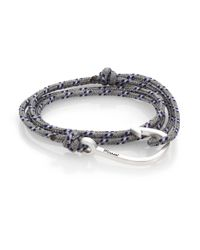 Miansai | Blue Hook Rope Wrap Bracelet/silvertone for Men | Lyst