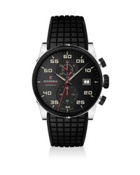 CT Scuderia Multicolor Testa Piatta Ion-plated Stainless Steel & Silicon Strap Watch for men