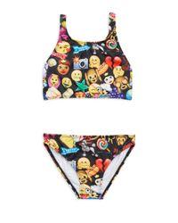 Terez - Black Girl's Two-piece Emoji Bikini - Lyst