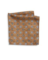 Saks Fifth Avenue - Brown Collection Flower Diamond Printed Pocket Square for Men - Lyst