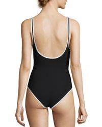 Jonathan Simkhai - Black Cutout One-piece Swimsuit - Lyst