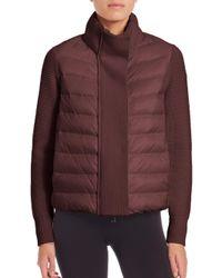 Moncler - Purple Knit Cardigan Coat - Lyst