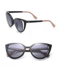 Fendi - Black Cat's-eye 51mm Sunglasses - Lyst