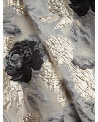 Basix Black Label Multicolor Off-the-shoulder High-low Print Gown