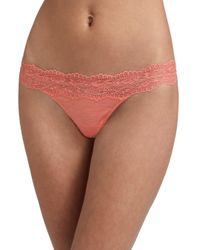Cosabella Pink Women's Ever Low-rise Thong - White - Size Large/xl