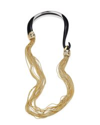 Alexis Bittar | Metallic Lucite Crystal-encrusted Draped Necklace | Lyst