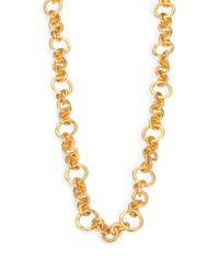 Stephanie Kantis - Metallic Coronation Small Chain Necklace/42 - Lyst
