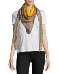 Gucci - Natural Angry Cat Scarf - Lyst