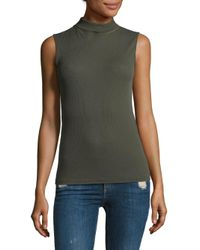 Rag & Bone - Green Nova Turtleneck Slim-fit Shirt - Lyst