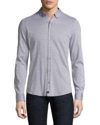 Strellson - Gray Spence-j Cotton Casual Button-down Shirt for Men - Lyst