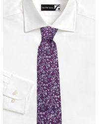 Eton of Sweden - Purple Floral Silk Tie for Men - Lyst