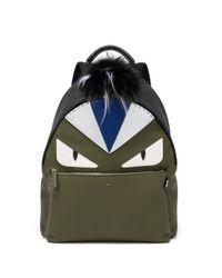 Fendi - Green Monster Eye Leather Backpack - Lyst