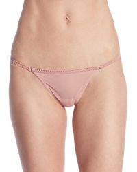 Wolford Pink Sheers String Bottom