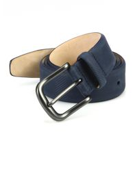Saks Fifth Avenue - Blue Textured Micro Carbon Belt for Men - Lyst