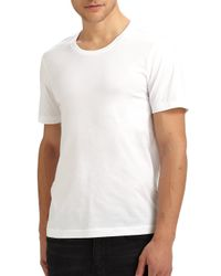 BLK DNM | White Crewneck Cotton Tee for Men | Lyst