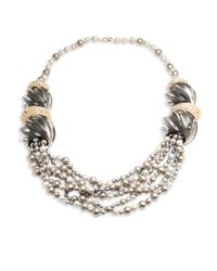 Alexis Bittar - Metallic Lucite Crystal-encrusted Sculptural Multi-strand Pearl Necklace - Lyst