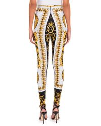Versace Multicolor Women's Printed Leggings - Black Gold