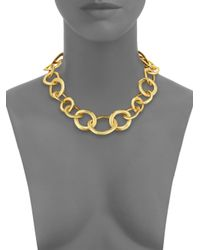 Nest - Metallic Short Chain Necklace - Lyst